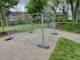 Park Köln Bauzaun mit Aufstellen Tischtennisplatte